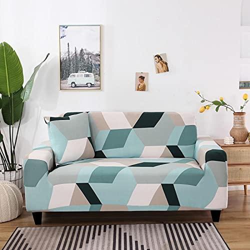 WXQY Funda de sofá Bohemia elástica Estampada Funda de sofá a Prueba de Polvo con Todo Incluido, Funda de sofá Antideslizante para Sala de Estar A9 1 Plaza