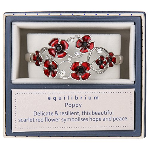 Equilibrium Oval Random Poppies Bracelet
