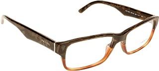 Prada PR16MV Eyeglasses-QE1/1O1 Mimetic Bronw/Brown Transp-55mm