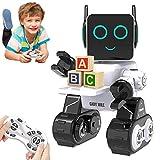 HBUDS Control Remoto RC Robot para Niños, Juguete de Robótica de Control de Sonido Táctil Recargable, Kit de Robot Educativo de Baile Cantante para Niños Niñas