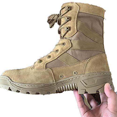 Les Militaires Tactiques Première Couche en Cuir Travail Sport Bottes 1000D Nylon imperméable résistant Stab randonnée Chaussures de Sport Sandy 42