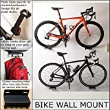 Bike Wall Mount | Horizontal Bicycle Storage Hanger | Indoor Bike Hanging Hook | Heavy Duty Steel Tray, Adjustable Swivel Arm for Pedal Mounting | Mountain, Road Cycle Holder - Garage, Home, Outdoors