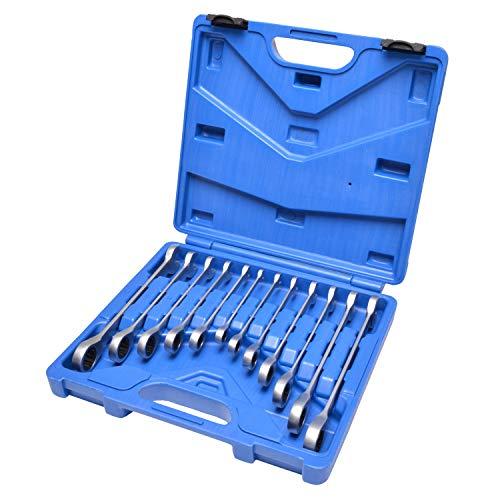 Hesselink RS-2000 Ratschenschlüsselset 8-19mm I Ratschenringschlüssel Set im Koffer I Ringratschenschlüssel in Werkstattqualität I Universal Werkzeug