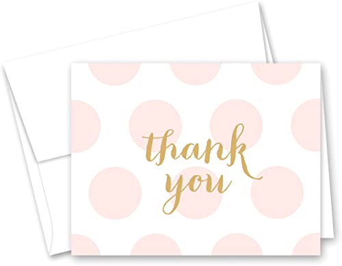 50 Cnt rose Polka Dots or   Shower Thank You voitureds by MyExpression
