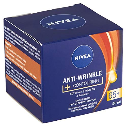Nivea Anti-wrinkle + contouring day care face cream 65+ with soy extract, hydramine and SPF30 50ml / 1.69oz