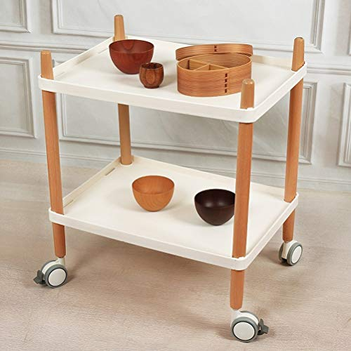 Ophihdlhd Nordic Style Cart Home Multifunktions Küche Mikrowelle Rack mit Roller Ophihdlhd
