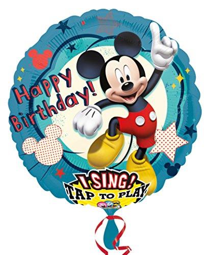 Amscan 2349101 Folienballon Sing A Tune Micky Maus Geburtstag