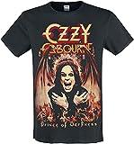 Ozzy Osbourne Amplified Collection - Prince of Darkness Hombre Camiseta Negro XXL, 100% algodón, Regular