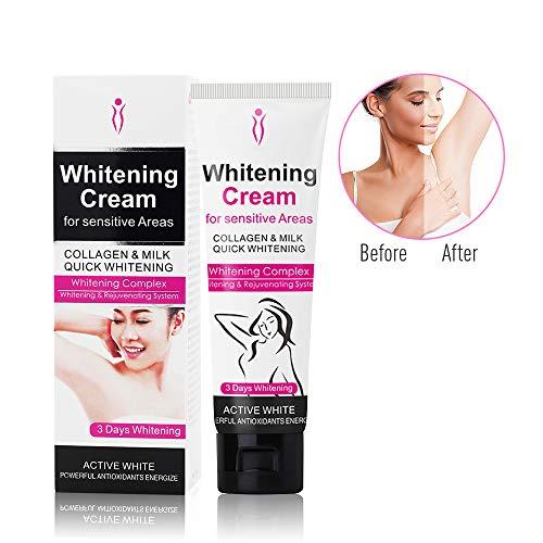 Whitening Cream, Duvina Body Cream für dunkle Haut, Hals, empfindliche Bereiche, Ellenbogen, innere Oberschenkel, Knie Körper Achselhöhle Creme Haut Beauty Whitening Hautpflege