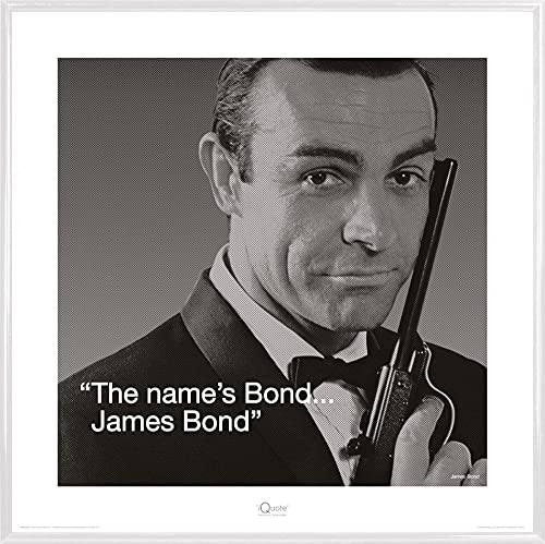 1art1 James Bond 007 Stampa d'Arte e Cornice (Plastica) - I.Quote: The Name's Bond (40 x 40cm)