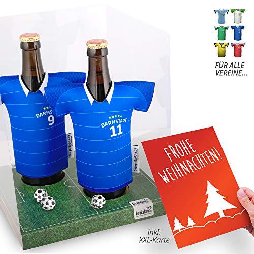 Weihnachts-Geschenk | Der Trikotkühler | Das Männergeschenk für Darmstadt-Fans | Langlebige Geschenkidee Ehe-Mann Freund Vater Geburtstag | Bier-Flaschenkühler by Ligakakao
