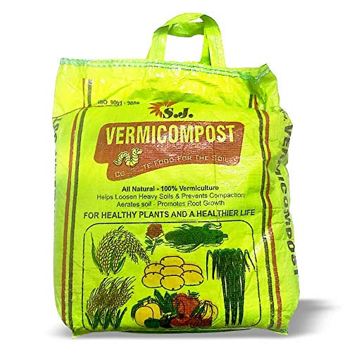 Kraft Seeds Vermicompost For All Kinds Of Plants 5kg, Black Gold, Complete Food For The Soil, Enriched With Cow Urine, 100% Organic