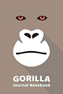 Gorilla Notebook Journal: Zoo Farm Animal Face Close Up Note Book Journal Diary, Cool Gift for Men, Women, Kids 118 pages ...