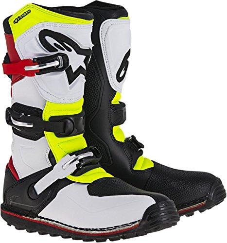 Alpinestars Tech-T Bottes de moto 12 (47) Blanc/Rouge/Jaune