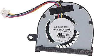 H HILABEE Ventilador De Refrigeración De CPU De Repuesto Negro para ASUS EEE PC 1025C Silencioso De Velocidad