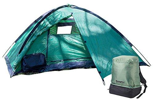 Semptec Urban Survival Technology Rucksackzelt: Ultrakompaktes Rucksack-Kuppelzelt, 2 Personen, 1.500 mm Wassersäule (Tent)