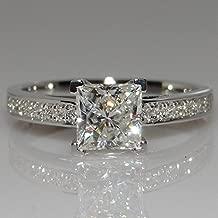 Best 1 carat princess cut diamond ring on finger Reviews