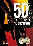 50 accompagnements pour guitare acoustique (1 Livre + 1 CD + 1 DVD)
