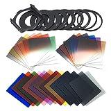 Filtro Fotografía combinación 24pcs Encuadre + Filtro Graduado Set + 9 Tamaño Soporte del Filtro de Anillo Adaptador de Cokin Serie P
