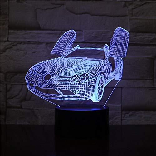 3D Illusion Nachtlampje LED Nachtlampje met Super cast Stapel Foundation Mooie Cool Speelgoed Geschenken voor Slaapkamer Naast Tafel Decoratie Vakantie Kerstcadeau voor Kinderen/Jongens/Mannen/met USB Opladen,