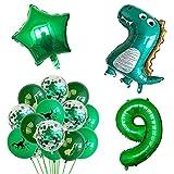 YSJJEFB Balloons 13 unids/Set Foil Globloons Boys Animal Globos Feliz Cumpleaños Bebé Bebé Niños Decoración de la Fiesta de cumpleaños (Color : Olive)