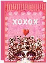 XOXO Valentine's Day blank card from Papaya (Papaya Art)