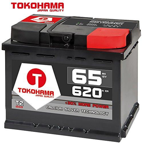 Tokohama Autobatterie 12V 65AH 620A/EN ersetzt 55Ah 56Ah 60Ah 61Ah 62Ah 64Ah