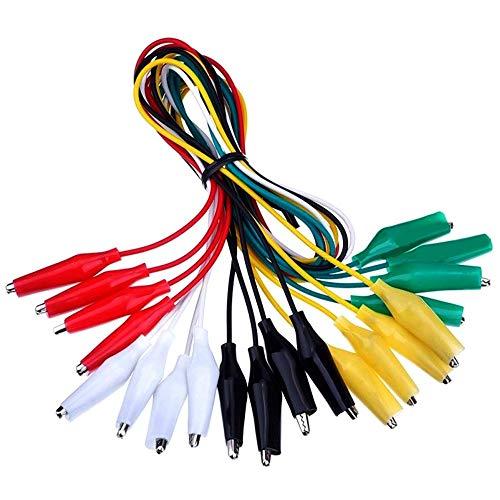 Für Arduino-Kits Zubehör 10Pcs Prüfleitungen mit Krokodilklemmen Set, isoliert Test-Kabel Doppeldigen Clips, 19,7 Inches