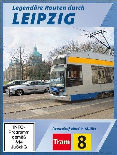 Legendäre Routen durch Leipzig - Tram 8 - Paunsdorf-Nord nach Miltitz