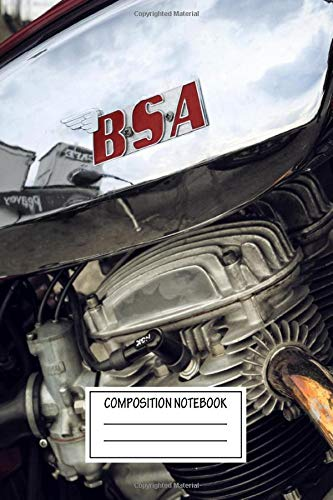 Composition Notebook: Cars Bsa Motorcycle Automotive Works Wide Ruled Note Book, Diary, Planner, Journal for Writing