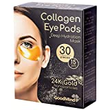 Revitalizing Collagen Gel Eye Mask Patches [30pcs] Hydrating Puffy Eyes Dark Circles Pads for Under Eyes Bags Puffiness Reducer. Gel Face Skin Treatment Mask.