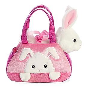 Aurora- Fancy PAL Bolso con Conejo Rosa Peluches y muñecas, Color Blanco (61015), Blanco / Rosa