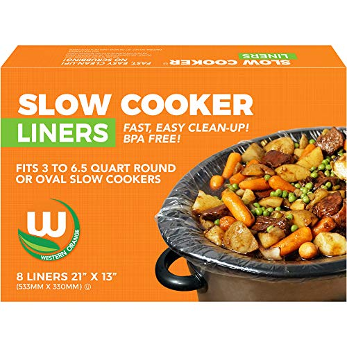 Heavy-duty Crock Pot Liners BPA-free Made in the USA, 8 Count, Bags Fit 3-8 Quart Oval and Round Slow Cooker