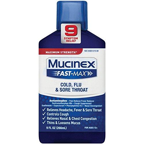 Mucinex Fast-Max Adult Liquid - Cold, Flu, Sore Throat 9 oz