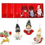 6 Colgante Navideño de Madera, Decoración del árbol Navideño, DIY Originales Colgantes, Colgantes de Madera para Árbol para Navidad, Decoraciones navideñas, Adornos de Navidad Madera (A)