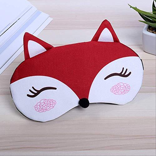 Augenmaske zum Schlafen Lustig,Fox Schlafmaske,Cute Eye Cover Reise Rest Eye Sleeping Aid,Geburtstagsgeschenk Maske für Jungen und Mädchen Urlaub rot
