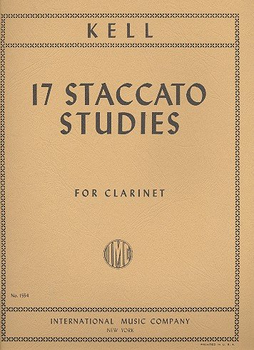 17 Staccato Studies: for clarinet
