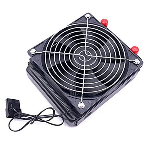 Cmstop Radiador de refrigeración por Agua de 120mm, 10 Tubos, Enfriador de CPU para Ordenador, intercambiador de Calor, Ventilador de refrigeración del radiador para Accesorio de refrigeración de PC