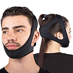 Better Night's Sleep: Snore no more with a jaw strap that will keep your mouth closed while sleeping New Design: Adjustable Hook 'N Loop Strap for Cpap Users Comfortable Fit: One size fits all head strap designed smaller to offer a better, more effec...