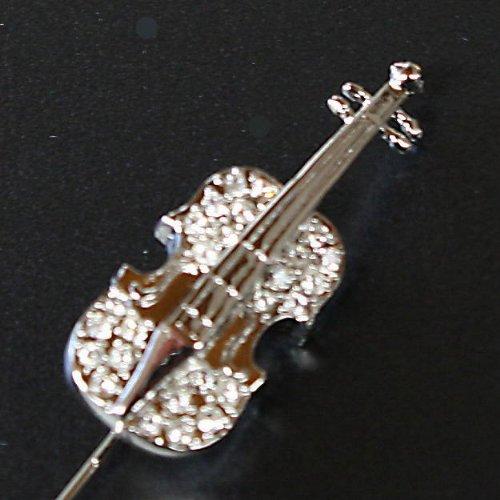 鎌倉カフス工房『バイオリンモチーフラペルピン(an004)』