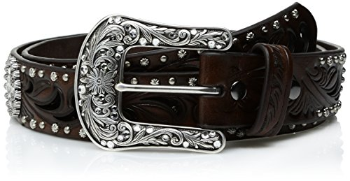 ARIAT Damen Brown Scroll Cutout Concho Nail Belt Gürtel, braun, Small