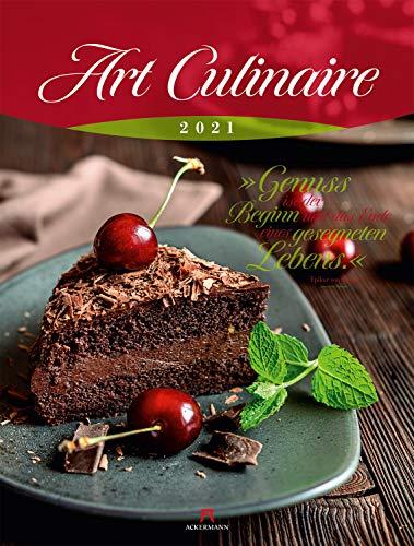 Art Culinaire Kalender 2021, Wandkalender mit Zitaten im Hochformat (50x66 cm) - Lifestyle-Kalender für Küche und kulinarische Gourmets