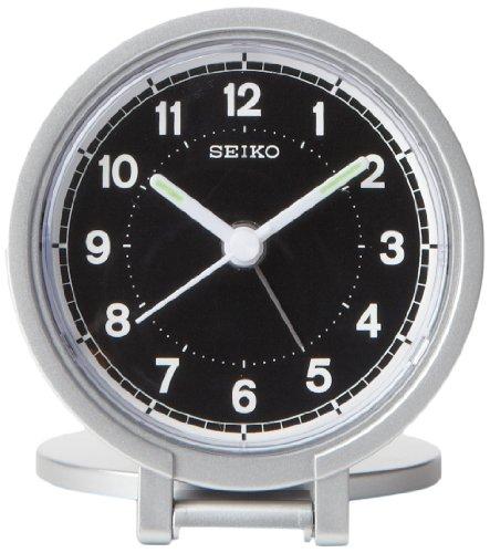 "Seiko 3"" Round Travel Analog Alarm Clock"