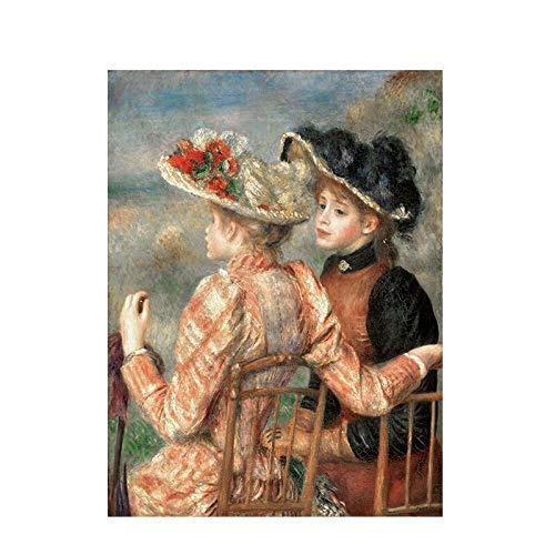 Moda Pintura Lienzo Pierre Auguste Renoir Pintura Al Óleo Sobre Lienzo Reproducción De Carteles E Impresiones Pop Art Cuadro De Pared Para Sala De Estar 60 * 90cm