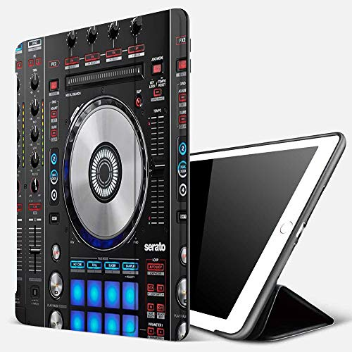 iPad 9.7 inch 2017/2018 Case/iPad Air/Air 2 Cover,Dj Pioneer Pattern 3D Printing,PU Leather Shockproof Shell Stand Smart Cover with Auto Wake