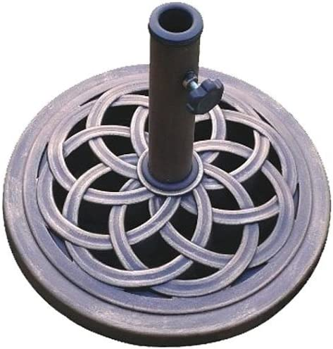 Best DC America UBP18181-BR 18-Inch Cast Stone Umbrella Base, Made from Rust Free Composite Materials, Br
