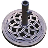 DC America UBP18181-BR 18-Inch Cast Stone Umbrella Base, Made from Rust Free Composite Materials, Bronze...