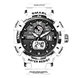 KXAITO Men's Watches Sports Outdoor Waterproof Military Watch Date Multi Function Tactics LED Alarm...
