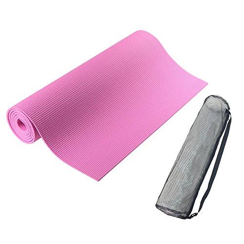 PURE RISE(ピュアライズ) ヨガマット バッグ付き 厚さ 6mm (ピンク)