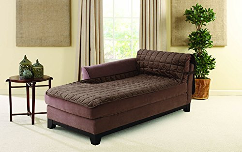 SURE FIT Deluxe Armless Chaise Cover - Chocolate (SF43527)